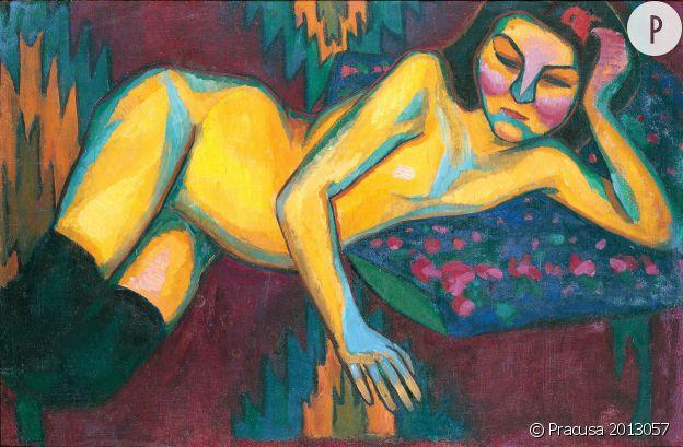 """Sonia Delaunay. """"Nu Jaune"""", 1908 Musée des Beaux-arts de Nantes."""