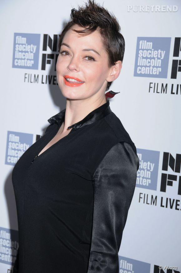 """Rose McGowan est arrivée métamorphosée à la première du film """"Listen Up Philip"""", lors du 52ème Festival du Film à New York ce jeudi 9 octobre 2014."""