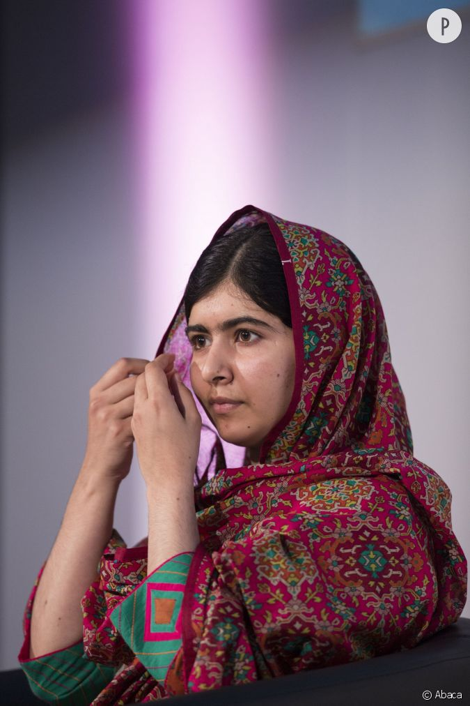 malala yousafzai la jeune pakistanaise de 17 ans ayant re u le prix nobel de la paix est au. Black Bedroom Furniture Sets. Home Design Ideas