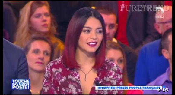 """Vanessa Hudgens sur le plateau de """"Touche pas à mon poste""""."""