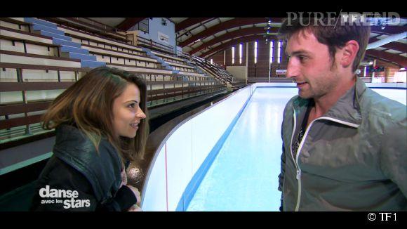 """Dans """"DALS5"""", Brian Joubert, le champion de patinage artistique était très heureux de danser avec Denitsa, qui l'a totalement charmé."""