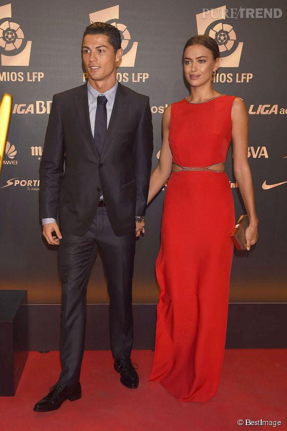Irina Shayk, sublime déesse au côté de son homme, Cristiano Ronaldo, à Madrid ce lundi 27 octobre.