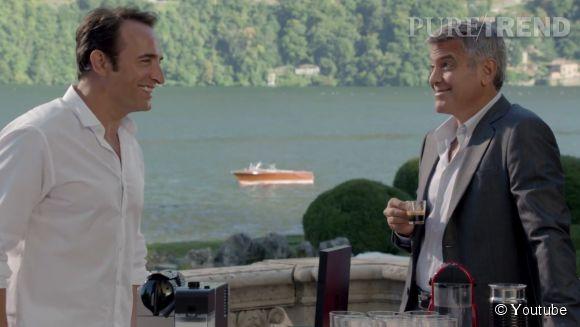 Jean Dujardin et George Clooney, battle de beaux gosses dans la dernière publicité Nespresso.