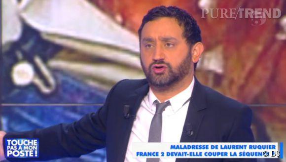 """Dans """"Touche pas à mon poste"""" ce lundi 3 novembre 2014 sur D8, Cyril Hanouna et sa bande étaient particulièrement remontés après la maladresse de Laurent Ruquier."""