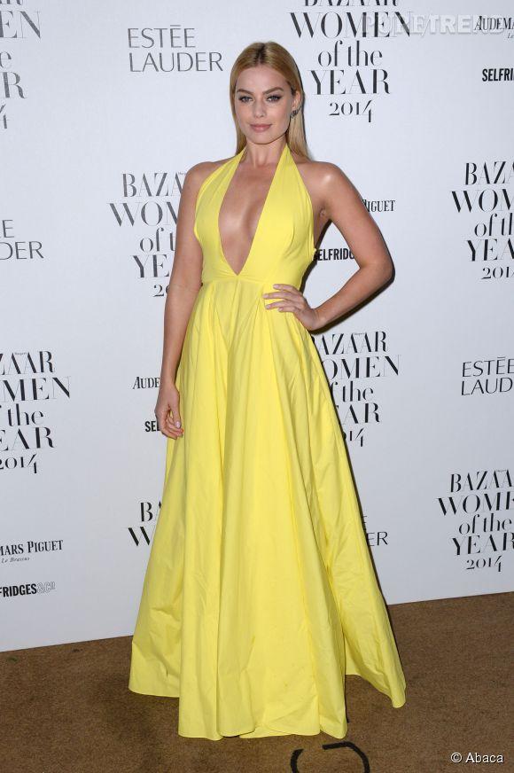 Margot Robbie à la soirée des Harper's Bazaar Women of the Year Awards le 4 novembre 2014 à Londres.