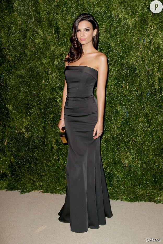 Emily Ratajkowski aux CFDA/Vogue Fashion Fund 2014, ce lundi 3 novembre 2014 à New York.