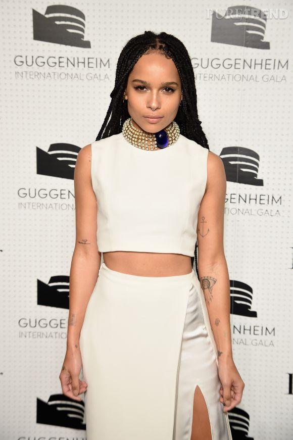 Zoë Kravitz lors du dîner de gala annuel du Guggenheim en partenariat avec Dior le 6 novembre 2014 à New York.