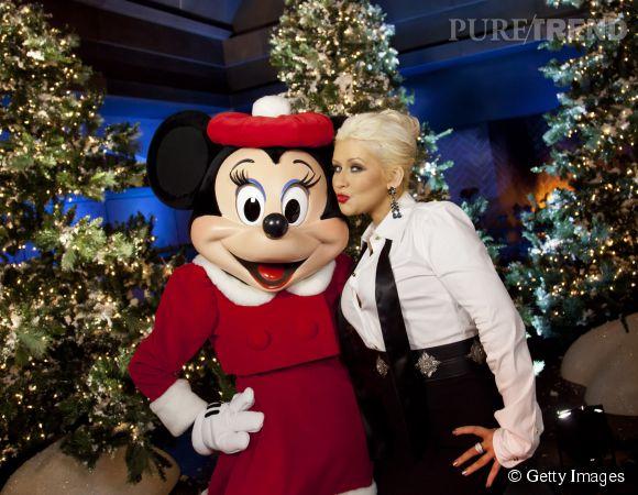 Christina Aguilera pète un plomb chez Mickey.