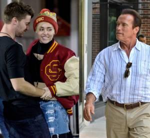 Miley Cyrus en couple : Arnold Schwarzenegger approuve !