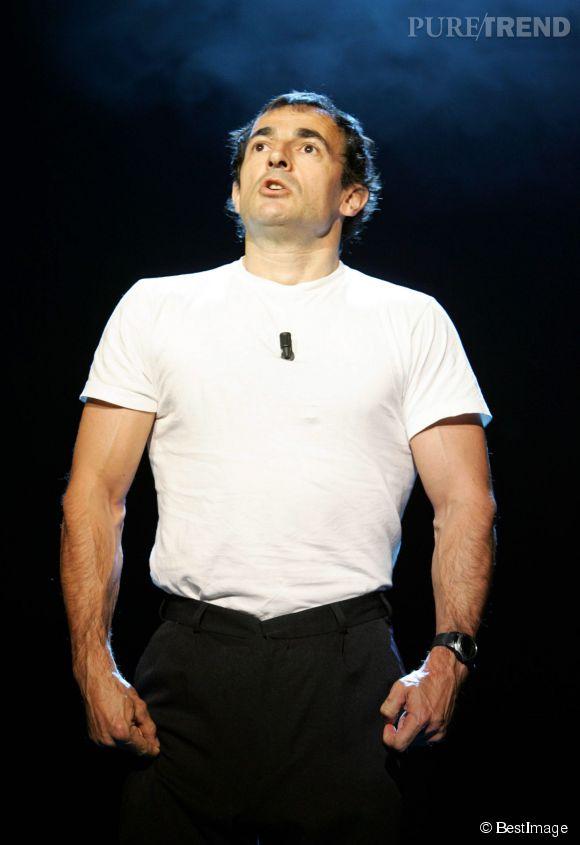 Albert Dupontel sur la scène de l'Olympia pour les trente ans de télé de Patrick Sébastien, en 2004.