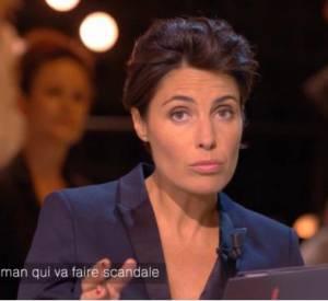 """Alessandra Sublet, la complice de Nicolas Bedos pour le gros canular sur le plateau de """"Un soir à la Tour Eiffel"""" sur France 2, mercredi 8 octobre 2014."""