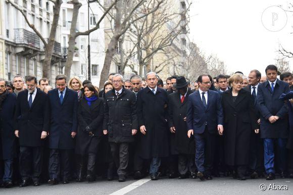 Angela Merkel et Anne Hidalgo, bien présentes au premier rang sur les clichés pris dimanche, lors de la marche républicaine à Paris.