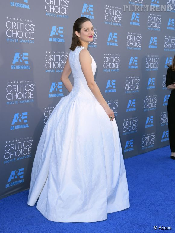 Marion Cotillard, une vraie princesse aux Critics Choice Movie Awards.