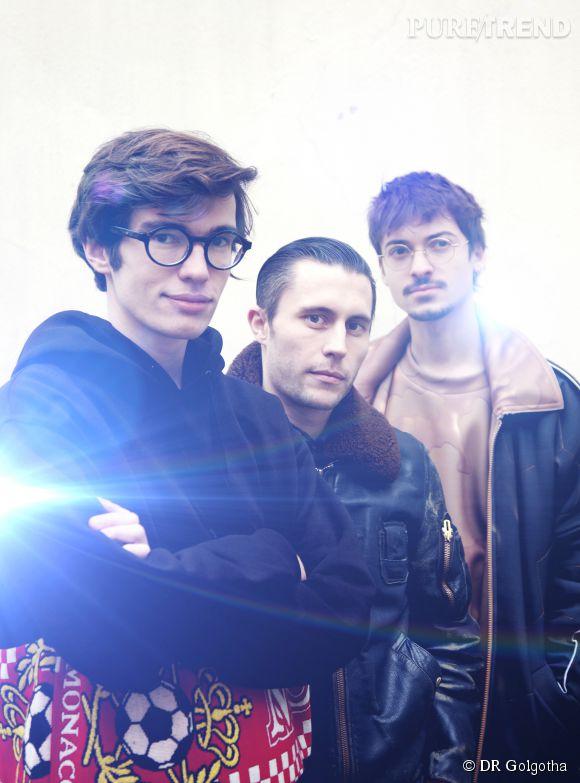 De gauche à droite : Antoine, Guillaume et Marvin, la fine équipe de Golgotha.
