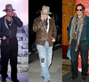 Johnny Depp n'a vraiment pas changé : sa non-évolution de looks !
