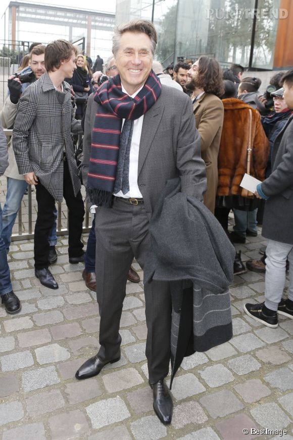 Bryan Ferry en front row du défilé Louis Vuitton Automne-Hiver 2015/2016 à Paris.