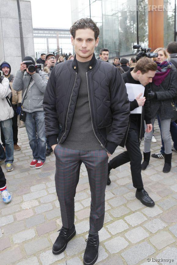 Jérémie Laheurte en front row du défilé Louis Vuitton Automne-Hiver 2015/2016 à Paris..
