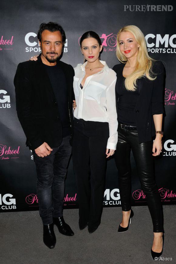 Clara Morgane entourée de Muratt et de Joanna Atik.