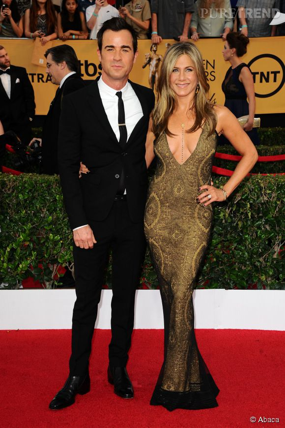 Jennifer Aniston et Justin Theroux, couple glamour aux SAG Awards.