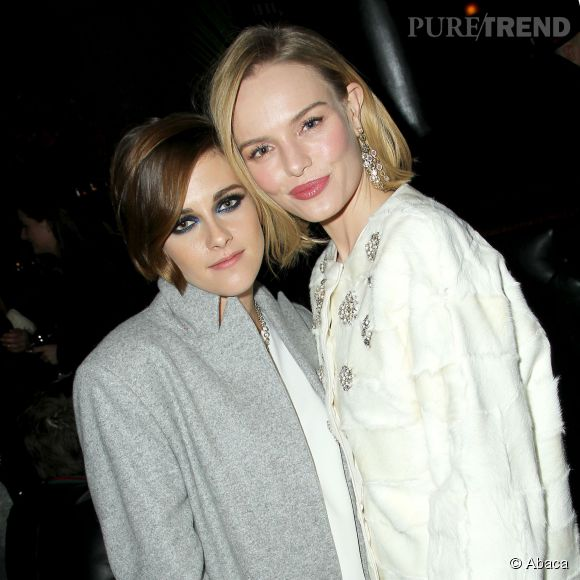 Kristen Stewart en compagnie de Kate Bosworth pendant la Fashion Week.