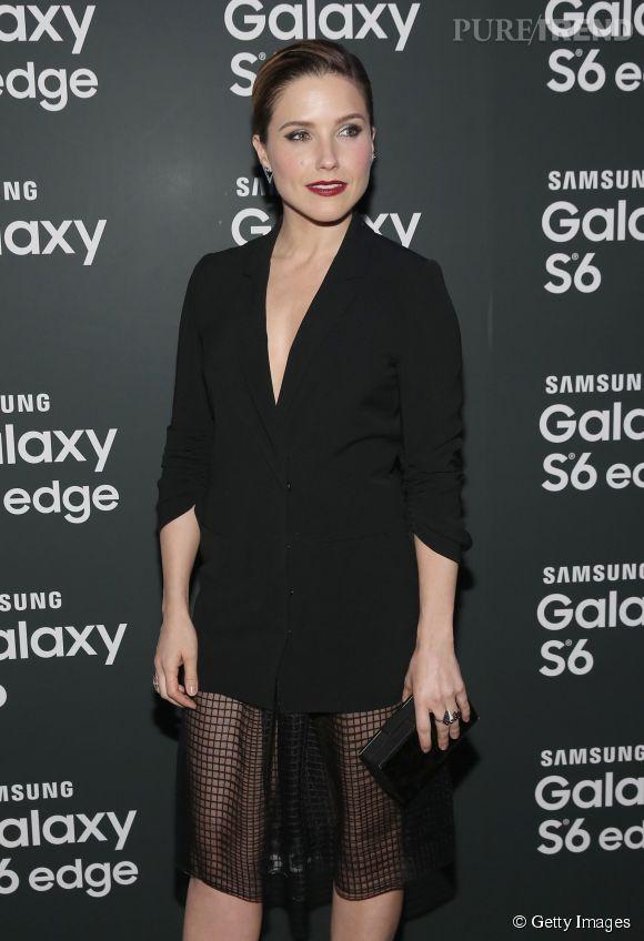 Sophia Bush lors d'une soirée Samsung à New York le 7 avril 2015.