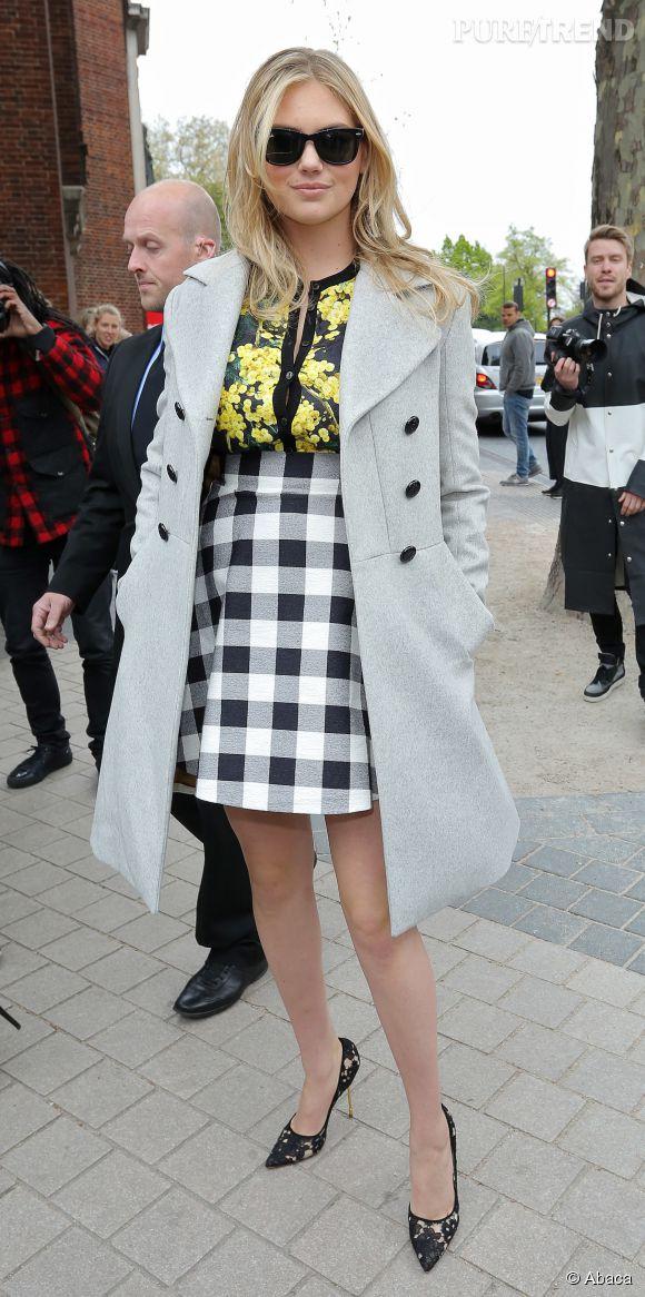 Kate Upton sublime en Dolce & Gabbana ce week-end, à Londres dimanche 26 avril 2015.