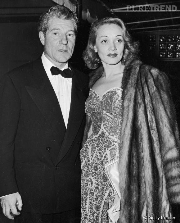 Jean Gabin et Marlène Dietrich, photographiés en 1941 à Los Angeles. Un couple mythique.