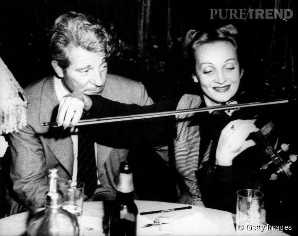 Jean Gabin et la belle Marlène Dietrich, qu'il finit par quitter en 1947.