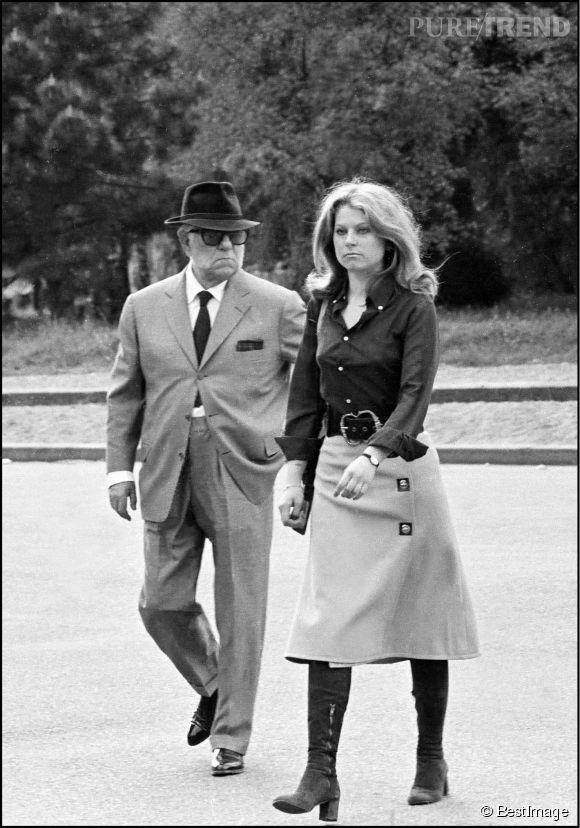 Jean Gabin et sa fille aînée, Florence, en 1970.