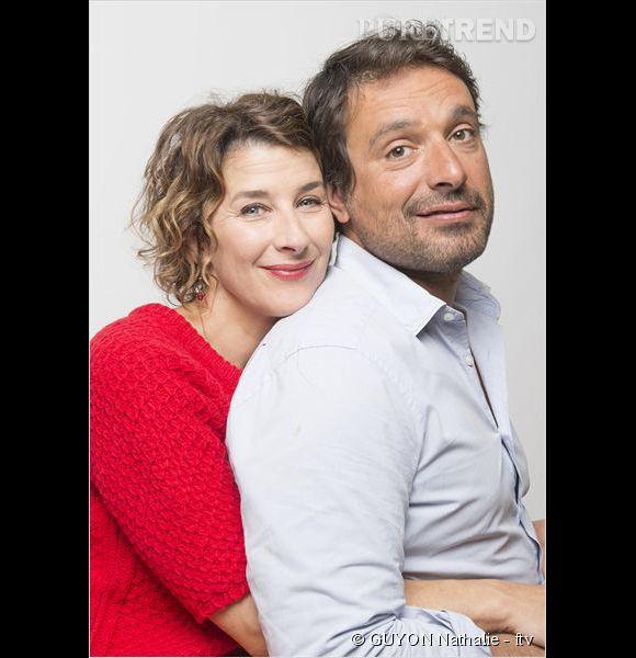 """Isabelle Gélinas et Bruno Salomone, alias Valérie et Denis Bouley dans """"Fais pas ci, fais pas ça""""."""