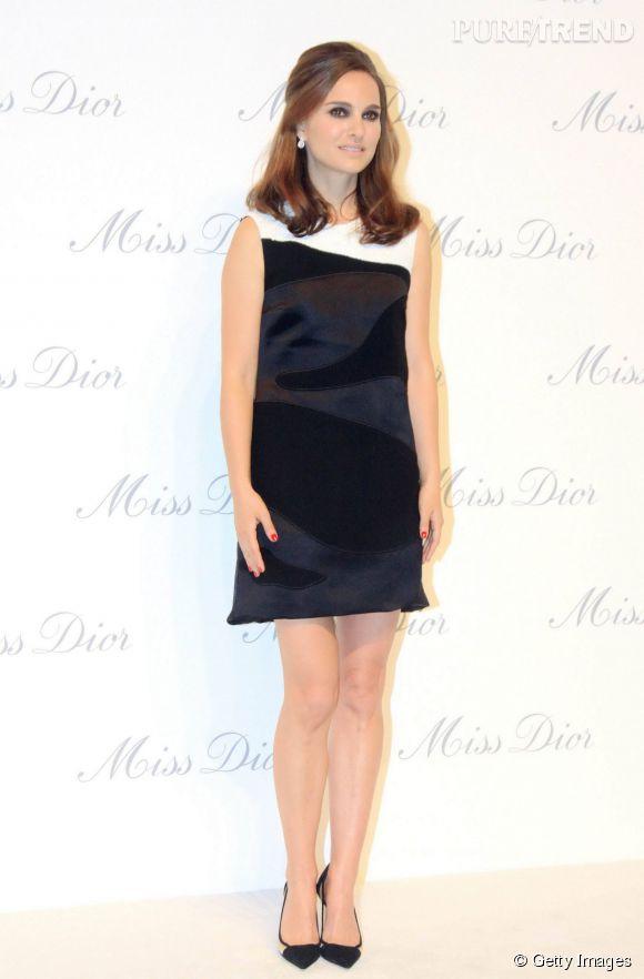 Natalie Portman à Pékin le 29 avril 2015 pour l'inauguration de l'exposition Miss Dior.