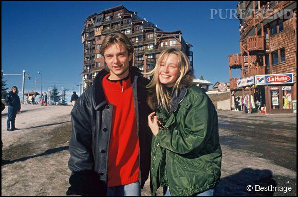 Estelle et David Hallyday au Festival d'Avoriaz en 1990.