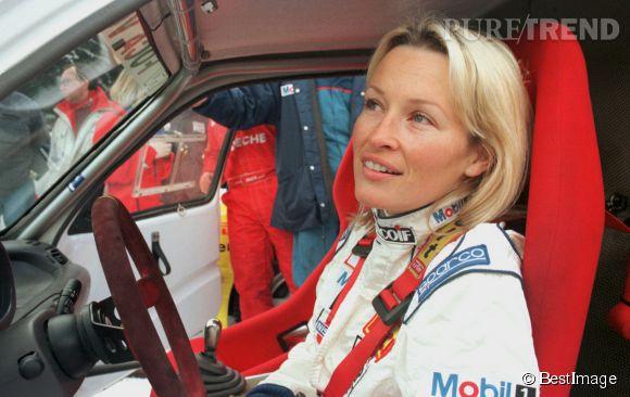 Estelle Lefébure participe aux 24 heures sur glace à Chamonix en 1996.