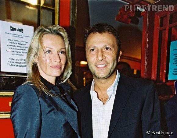 Estelle Lefébure et Arthur son deuxième mari en 2002.