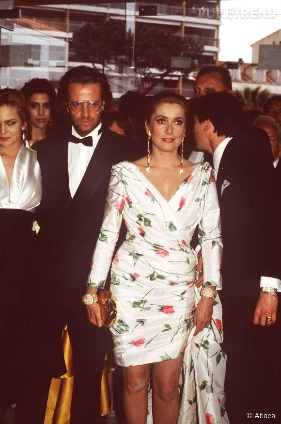 Catherine Deneuve et Christophe Lambert au Festival de Cannes en 1987.