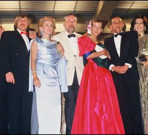 Catherine Deneuve, Gérard Depardieu, Philippe Noiret, Sophie Marceau et Alain Corneau au Festival de Cannes en 1984.