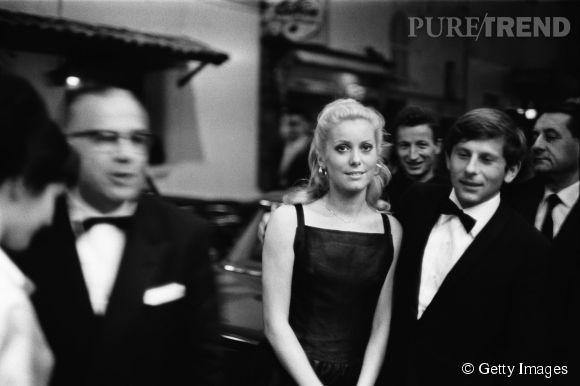Catherine Deneuve et Roman Polanski au Festival de Cannes de 1965.
