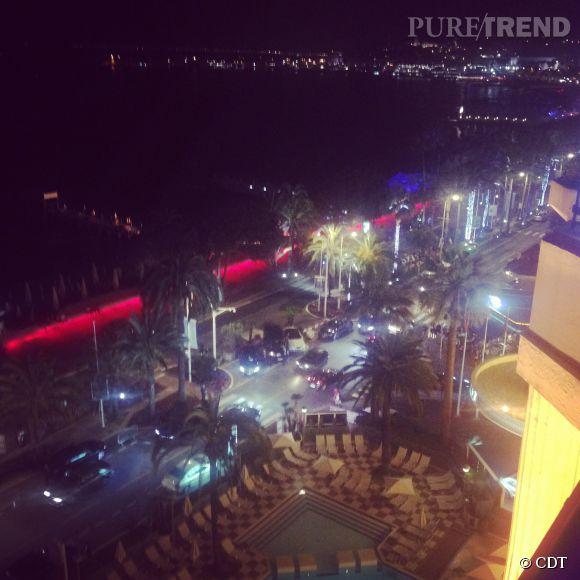 La vue de la sublime terrasse du Martinez à Cannes.