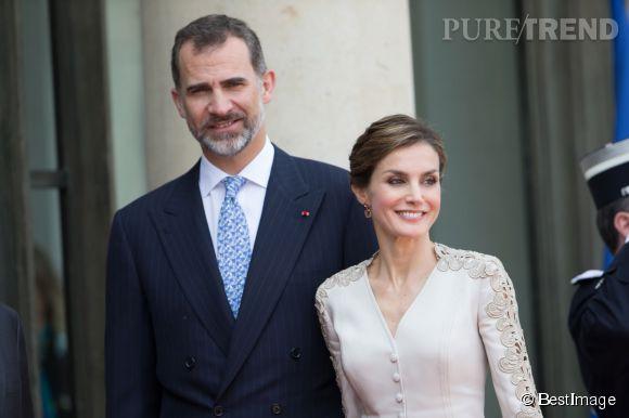 Le roi Felipe et la reine Letizia d'Espagne en voyage officiel en France.