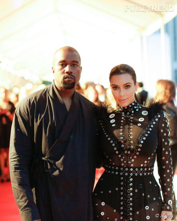 Kim Kardashian et Kanye West lors des CFDA Fashion Awards à New York.