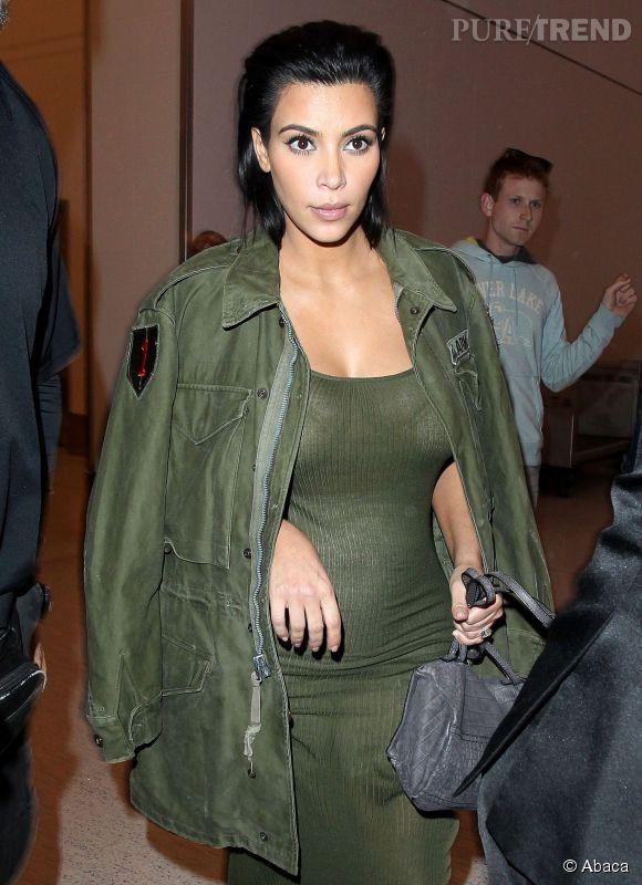 Kim Kardashian, enceinte, à Los Angeles le 2 juin 2015.