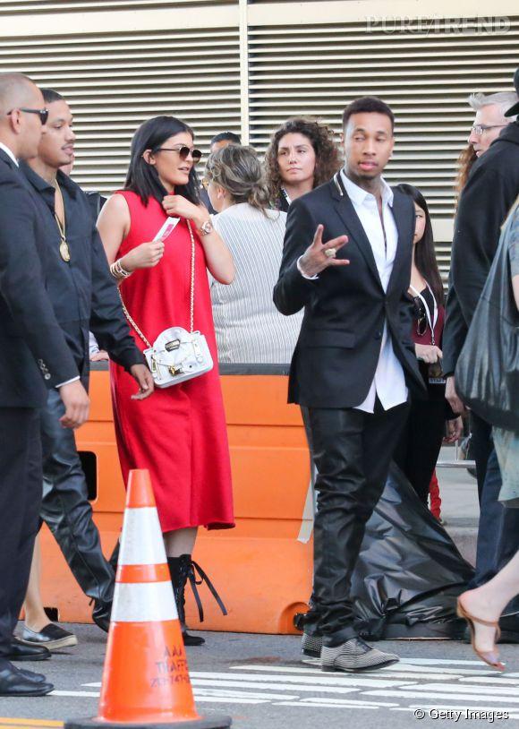 """Kylie Jenner accompagne Tyga à la première du film """"Dope"""" à Los Angeles le 9 juin 2015."""