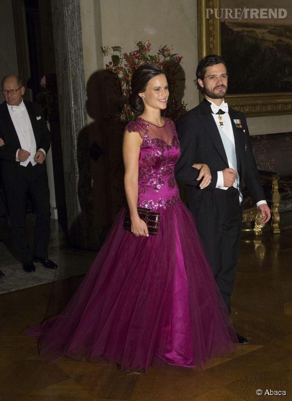 Sofia Hellqvist et son futur époux, le prince Carl Philip de Suède.