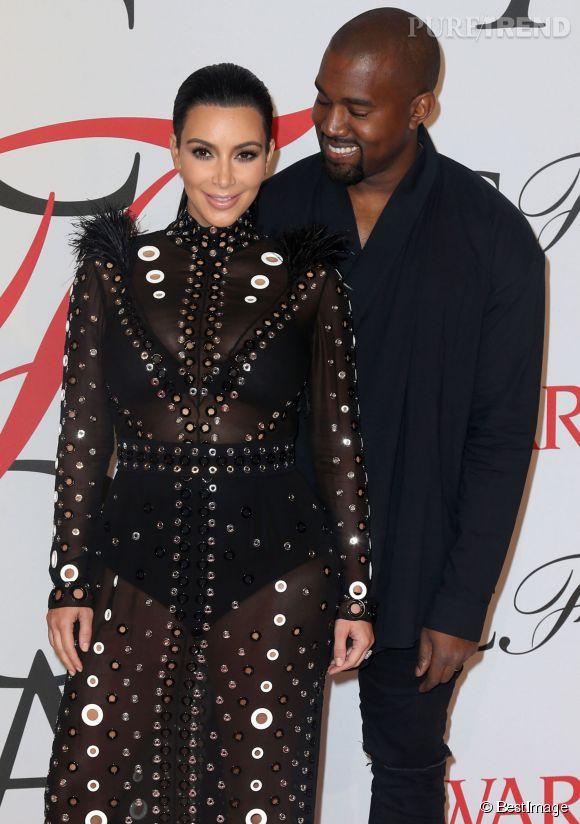 Kim Kardashian et Kanye West, leur deuxième enfant devrait naître en décembre 2015.