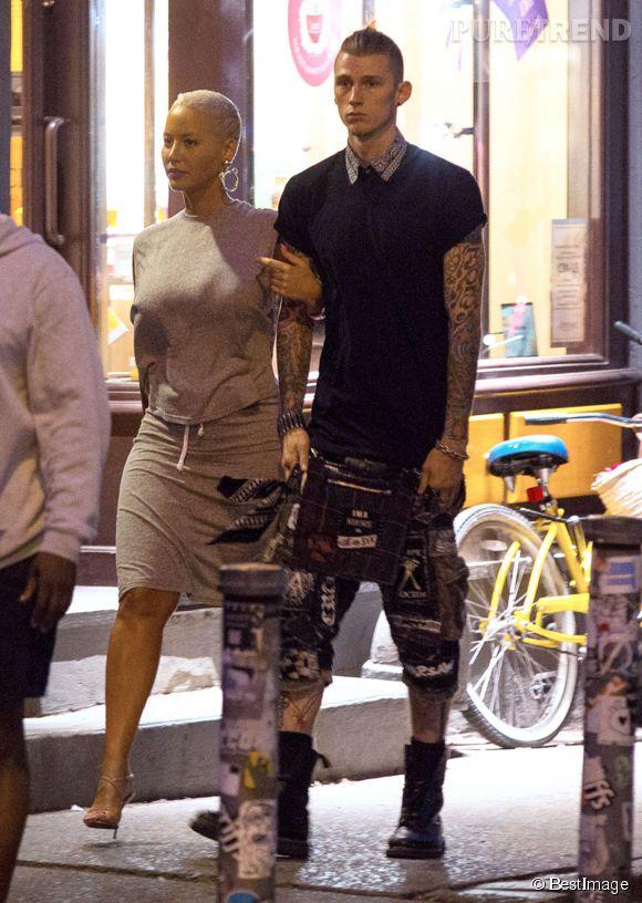 Amber Rose et Machine Gun Kelly à New York le 10 juin 2015.