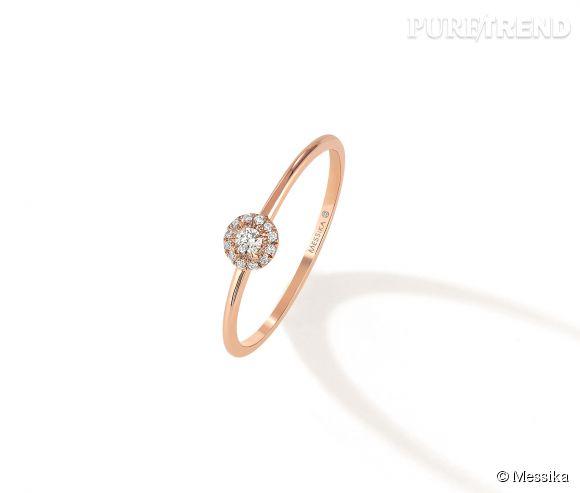 Messika Bague Joy Xs En Or Rose Et Diamants Blancs 420 Euros Puretrend