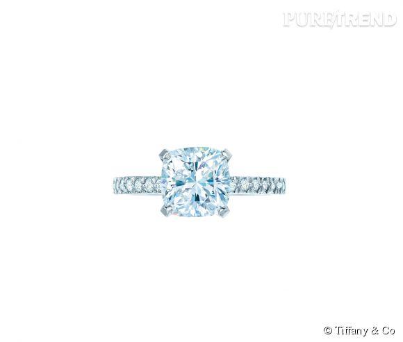 grandes variétés profiter de prix pas cher meilleur fournisseur Tiffany & Co Bague Novo en platine et diamants blancs Prix ...