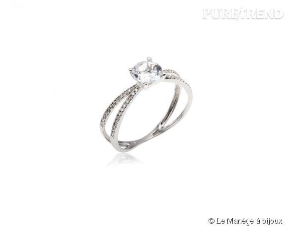magasins populaires vente moins chère dégagement Le Manège à bijoux Bague en or gris, diamants blancs et ...