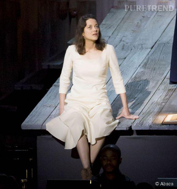 Marion Cotillard, sur la scène du Lincoln Center, à New York.