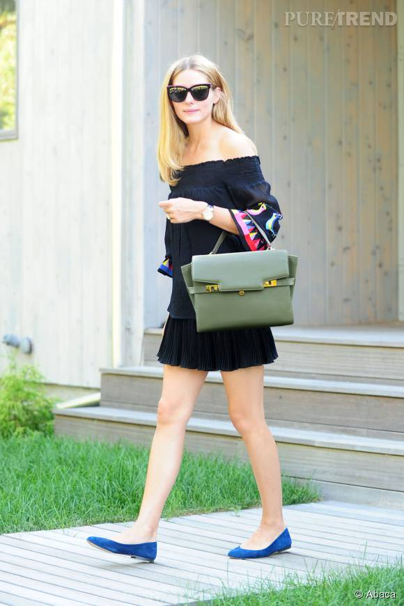 Olivia Palermo radieuse dans son look cosy/chic.